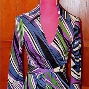 ❤️ Diane Von Furstenberg Justin Wrap Dress Sz 12